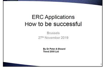 Hogyan legyünk sikeresek az ERC felhívásokon
